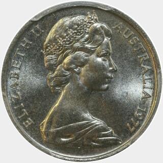 1977  Ten Cent obverse