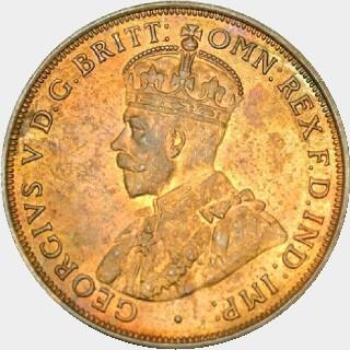 1922 Specimen Penny obverse