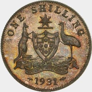 1931 Proof Shilling reverse