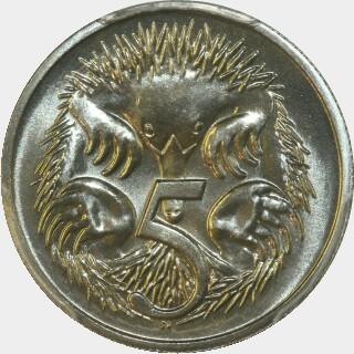 1985  Five Cent reverse