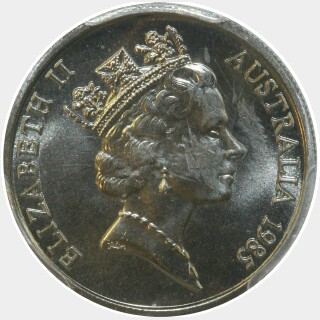 1985  Five Cent obverse