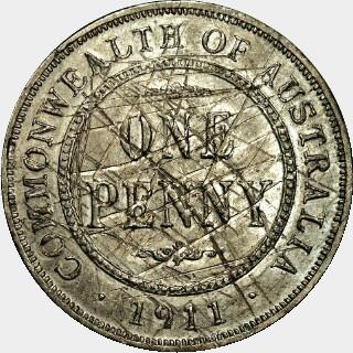 1911 Trial in Lead Penny reverse