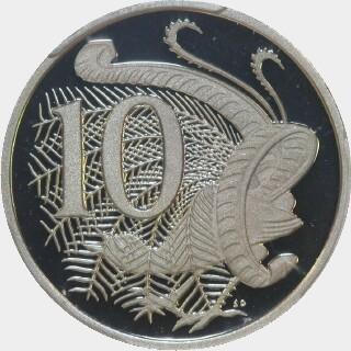2009 Proof Ten Cent reverse