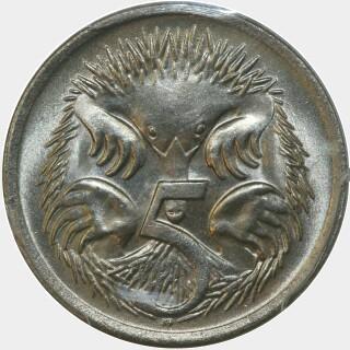 1969  Five Cent reverse