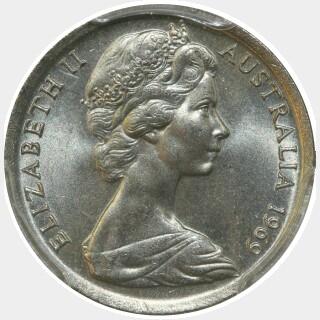 1969  Five Cent obverse