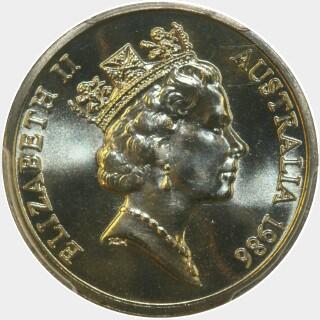 1986  Ten Cent obverse