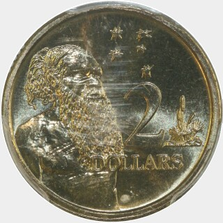 1991  Two Dollar reverse