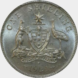 1921-*  Shilling reverse