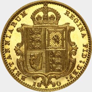 1890-M Pattern Half Sovereign reverse