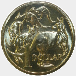 1987  One Dollar reverse