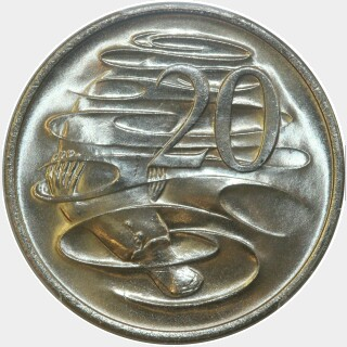 1971  Twenty Cent reverse
