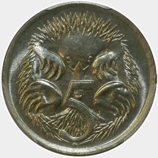 1971  Five Cent reverse