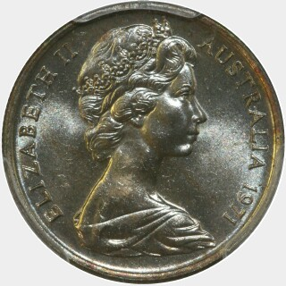 1971  Five Cent obverse