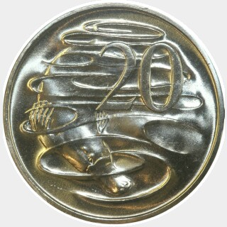 1985  Twenty Cent reverse