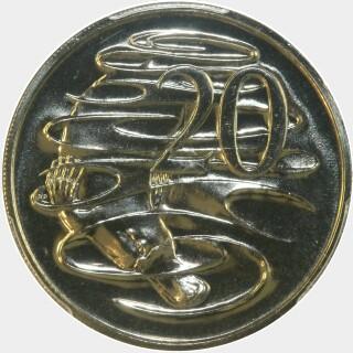 1996  Twenty Cent reverse