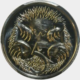 1996  Five Cent reverse