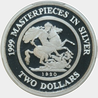 1999 Silver Proof Two Dollar reverse