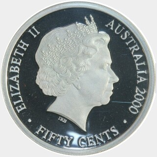2000 Silver Proof Fifty Cent obverse