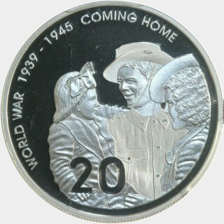 2005 Silver Proof Twenty Cent reverse