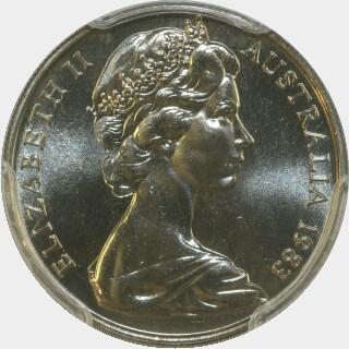 1983  Ten Cent obverse