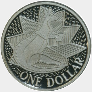 1988 Silver Proof One Dollar reverse