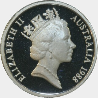 1988 Silver Proof One Dollar obverse