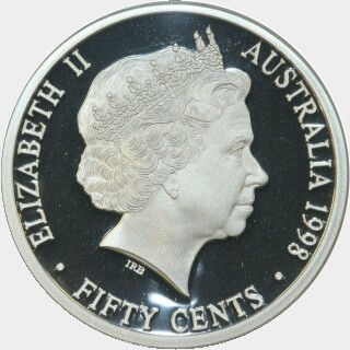 1998 Silver Proof Fifty Cent obverse