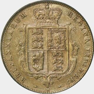 1885-M  Half Sovereign reverse