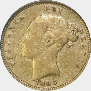 1885-M  Half Sovereign obverse