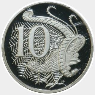 2014 Silver Proof Ten Cent reverse