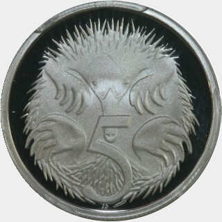 2005 Silver Proof Five Cent reverse