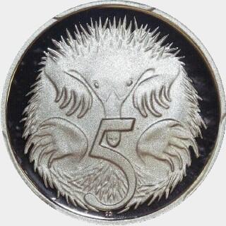 2007 Proof Five Cent reverse