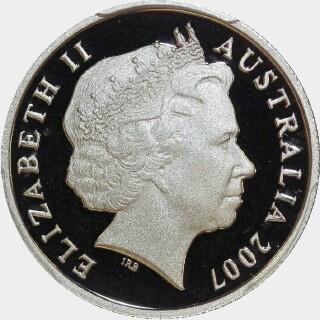 2007 Proof Five Cent obverse