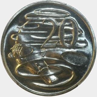 1984  Twenty Cent reverse