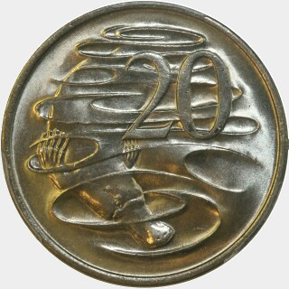 1969  Twenty Cent reverse