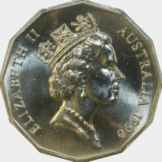 1990  Fifty Cent obverse