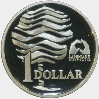 1993 Proof One Dollar reverse