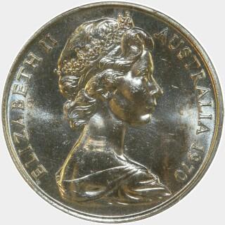 1970  Twenty Cent obverse