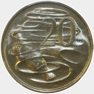 1973  Twenty Cent reverse