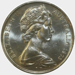 1973  Twenty Cent obverse