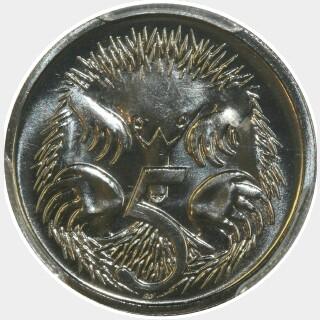 1987  Five Cent reverse