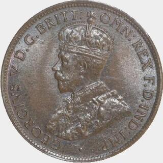 1913  Half Penny obverse
