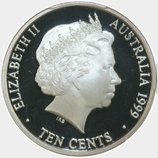 1999 Silver Proof Ten Cent obverse