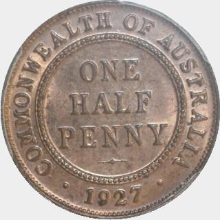 1927  Half Penny reverse