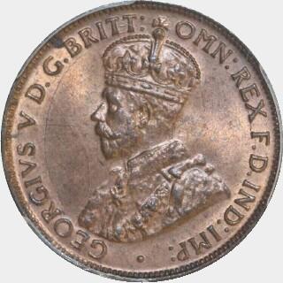 1927  Half Penny obverse