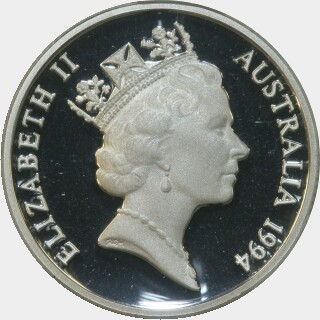 1994 Silver Proof One Dollar obverse