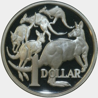 1991 Silver Proof One Dollar reverse