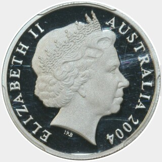 2004 Silver Proof Ten Cent obverse