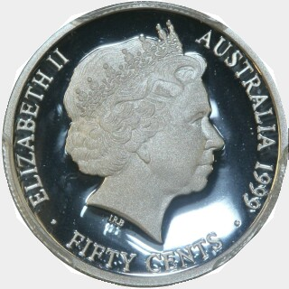 1999 Silver Proof Fifty Cent obverse