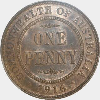 1916-I  Penny reverse